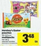 Hershey's Easter Pouches 185-340 G Or Multipacks 124-136 G