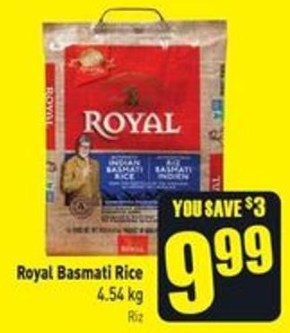 Royal Basmati Rice 4.54 Kg