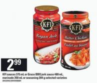 Kfi Sauces 375 Ml Or Grace Bbq Jerk Sauce 480 Ml - Marinade 350 Ml Or Seasoning 284 G
