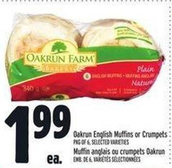 Oakrun English Muffins Or Crumpets