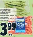 Bolthouse Farms Peeled Baby Carrots 907 G - Product Of Canada Long Flat Beans 340 G Product Of Ontario