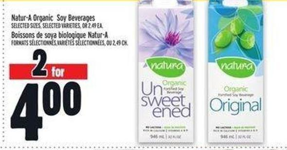 Natur-a Organic Soy Beverages