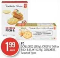 PC Scalloped (185g) - Crisp & Thin or Rich & Flaky (225g) Crackers