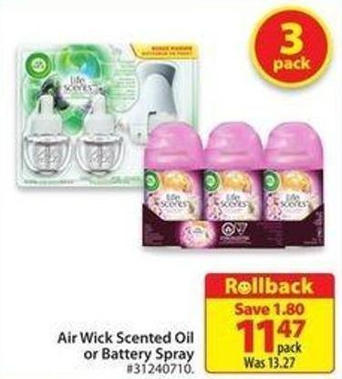Air Wick Scented Oil or Battery Spray
