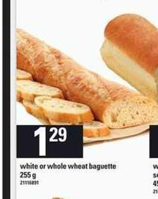 White Or Whole Wheat Baguette - 255 g