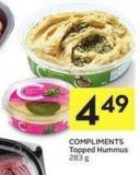 Compliments Topped Hummus