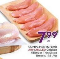Compliments Fresh Air-chilled Chicken Fillets