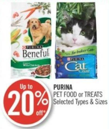 Purina Pet Food or Treats
