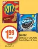 Christie Cookies or Crackers