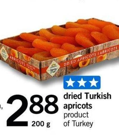Dried Turkish Apricots - 200 G