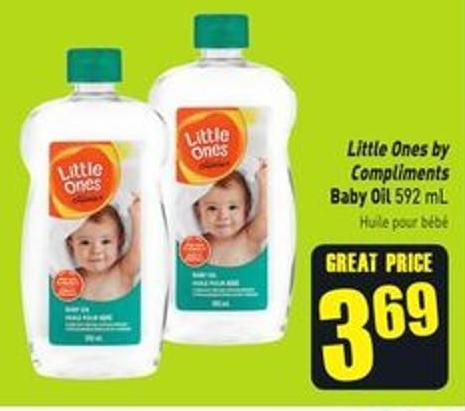 Little Ones By Compliments Baby Oil 592 mL