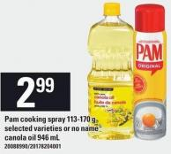 Pam Cooking Spray - 113-170 G Or No Name Canola Oil - 946 Ml