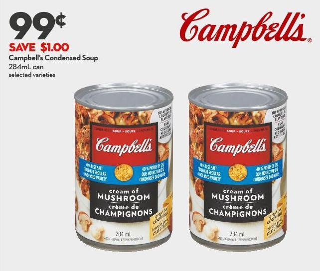 Campbell's Condensed Soup 284ml Can