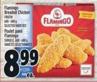Flamingo Breaded Chicken Frozen 600 - 680 g