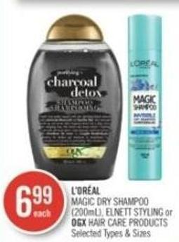 L'oréal Magic Dry Shampoo (200ml) - Elnett Styling or Ogx Hair Care Products