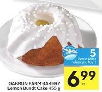 Oakrun Farm Bakery Lemon Bundt Cake 455 g - 5 Air Miles Bonus Miles