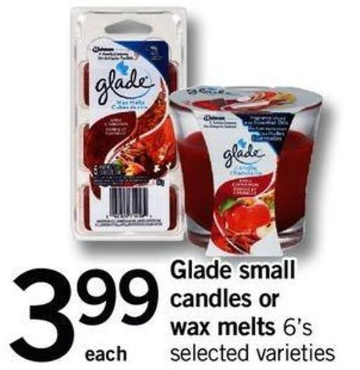 Glade Small Candles Or Wax Melts - 6's