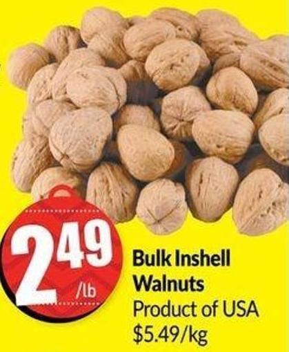 Bulk Inshell Walnuts Product of USA $5.49/kg
