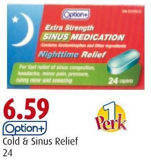 Option+ Cold & Sinus Relief 24