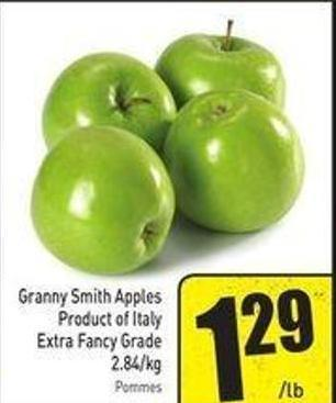 Granny Smith Apples Product of Italy Extra Fancy Grade 2.84/kg