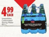 Irresistibles Carbonated Spring Water 6 X 1 L