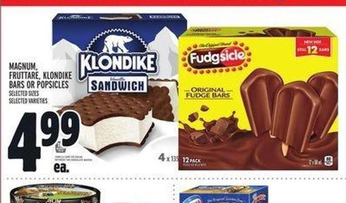 Magnum - Fruttare - Klondike Bars or Popsicles
