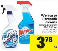 Windex Or Fantastik Cleaner - 650-950 mL