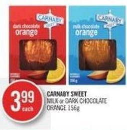 Carnaby Sweet Milk or Dark Chocolate Orange 156g