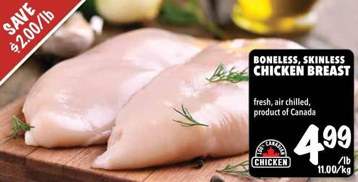 Boneless - Skinless Chicken Breast