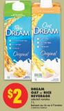 Dream Oat or Rice Beverage - 1 L