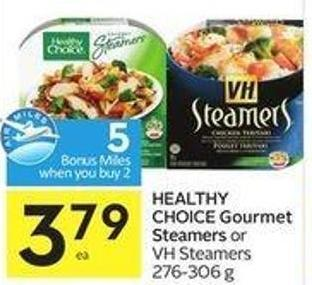Healthy Choice Gourmet Steamers or VH Steamers 276 - 306 g - 5 Air Miles Bonus Miles
