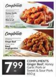 Compliments Ginger Beef