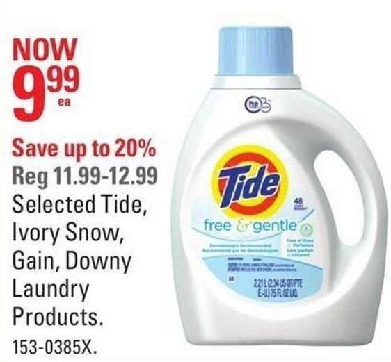 Selected Tide - Ivory Snow - Gain - Downy Laundry Products