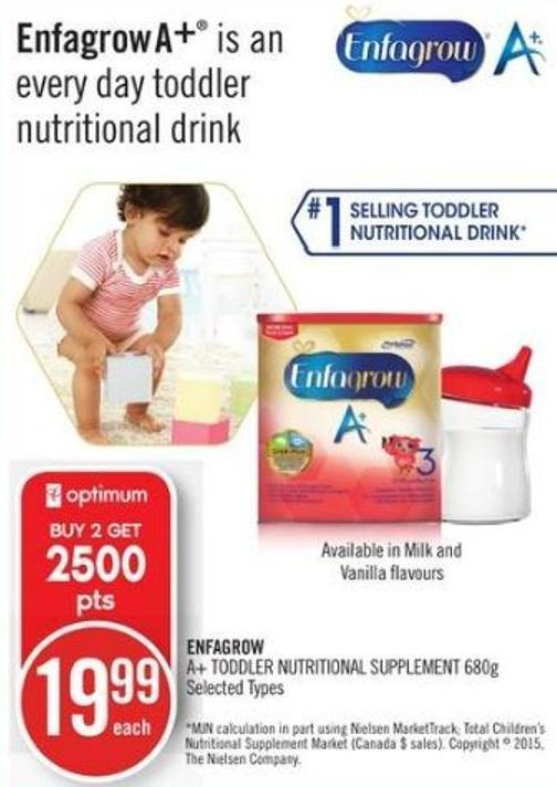 Enfagrow A+ Toddler Nutritional Supplement