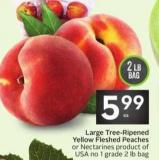 Large Tree-ripened Yellow Fleshed Peaches or Nectarines
