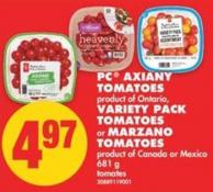 PC Axiany Tomatoes - Variety Pack Tomatoes or Marzano Tomatoes - 681 g