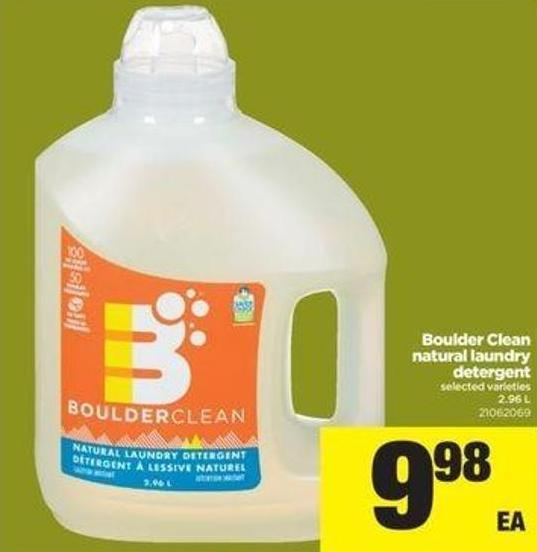 Boulder Clean Natural Laundry Detergent - 2.96 L