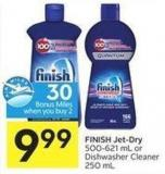 Finish Jet-dry 500-621 mL or Dishwasher Cleaner 250 mL - 30 Air Miles Bonus Miles