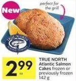 True North Atlantic Salmon Cakes Frozen or Previously Frozen 142 g
