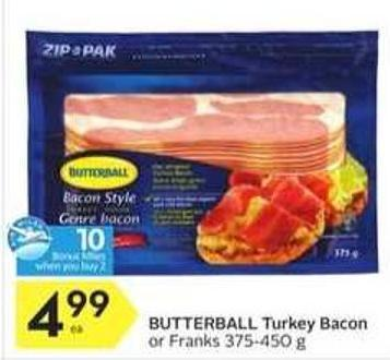 Butterball Turkey Bacon - 10 Air Miles