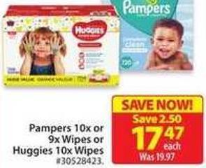 Huggies 10 X Wipes