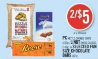 PC Kettle Cooked Chips (220g) - Lindt Swiss Classic (100g) or Selected Fun Size Chocolate Bars (10's