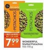 Wonderful Shelled Pistachios 155-170 g