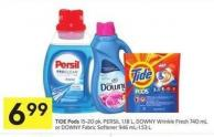 Tide Pods 15-20 Pk - Persil 1.18 L - Downy Wrinkle Fresh 740 mL or Downy Fabric Softener 946 Ml-1.53 L