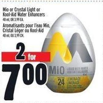 Mio or Crystal Light or Kool-aid Water Enhancers