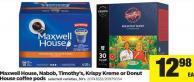 Maxwell House - Nabob - Timothy's - Krispy Kreme Or Donut House Coffee PODS -  - 30's