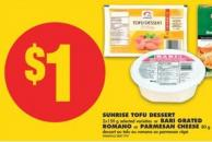 Sunrise Tofu Dessert - 2x150 g or Bari Grated Romano or Parmesan Cheese - 80 g