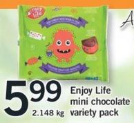 Enjoy Life Mini Chocolate Variety Pack - 2.148 Kg