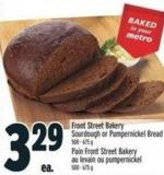 Front Street Bakery Sourdough Or Pumpernickel Bread 500 - 675 g