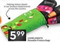 Compliments Reusable Produce Bags